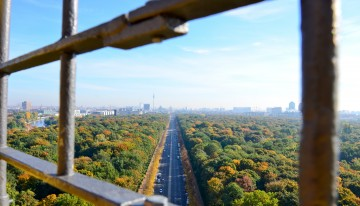 Prachtig uitzicht vanaf de Siegessäule in Berlijn