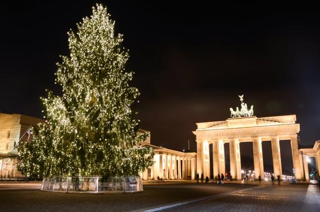 2015-WattedoeninBerlijn - Brandenburger Tor Kerstboom-6
