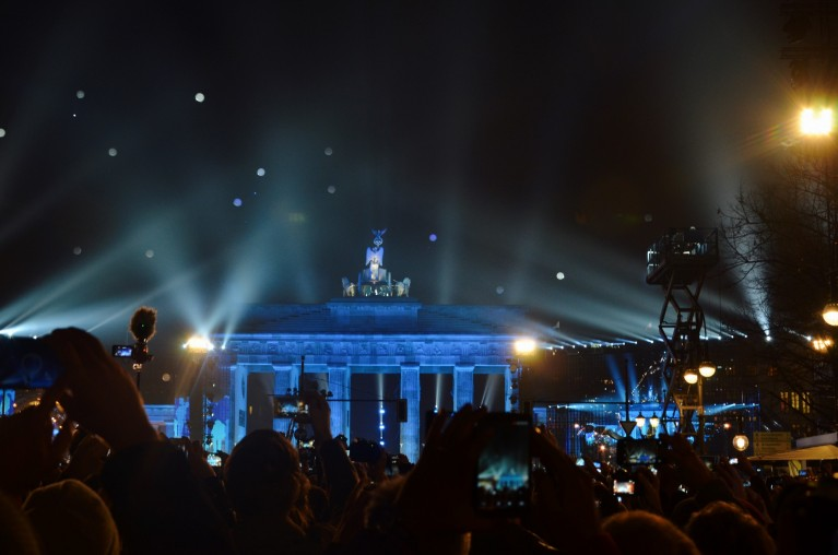 25 Jahre Mauerfall bij Brandenburger Tor