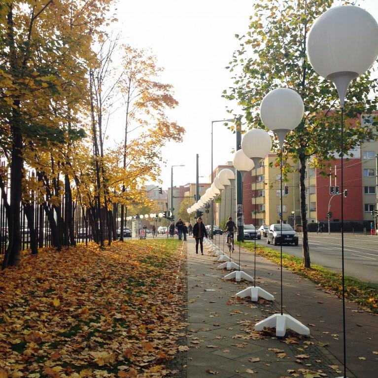 Lichtgrenze aan Bernauer Strasse