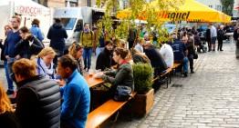 Happen op de street food markt 'Auf Achse'