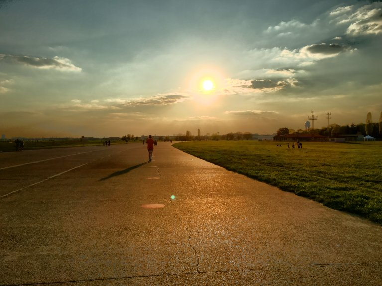 hardlopen op tempelhof