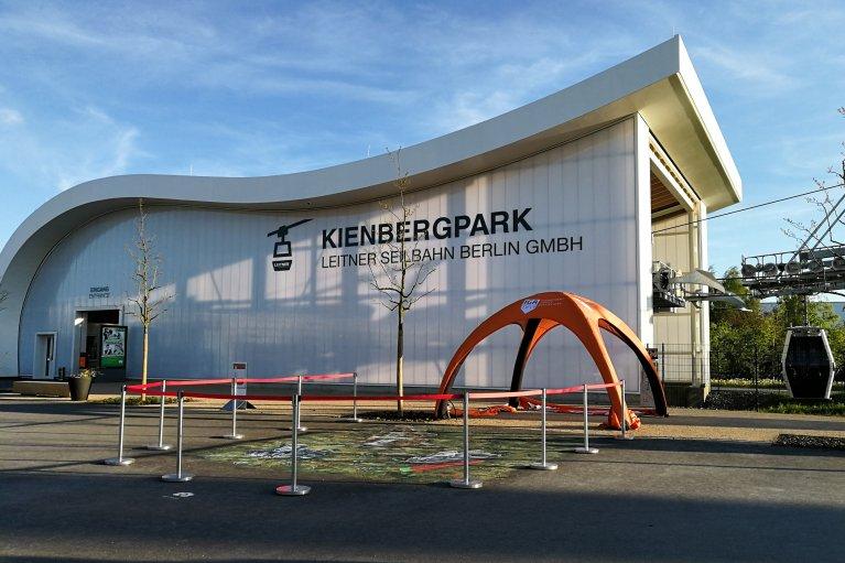 Kabelbaan halte Kienbergpark in de IGA