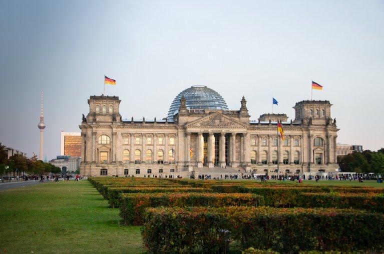 Reichstag in Berlijn op 3 oktober