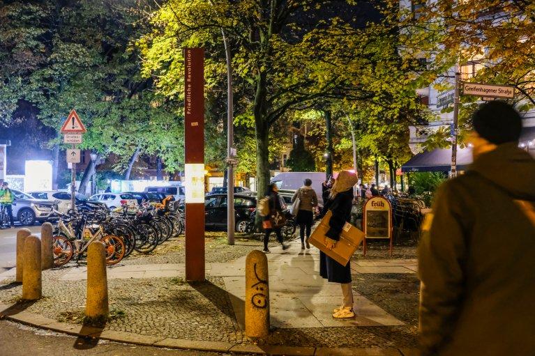 Getsehmanekirche tijdens 30 jaar val van de muur in Berlijn © Wattedoeninberlijn.nl